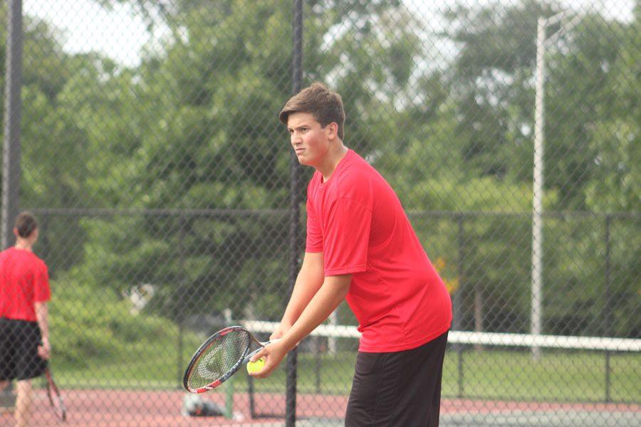 Varsity Boys Tennis Team at Parkside