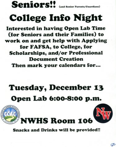 College information night for seniors