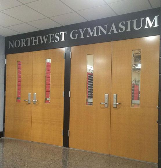 The Northwest Gymnasium entrance.