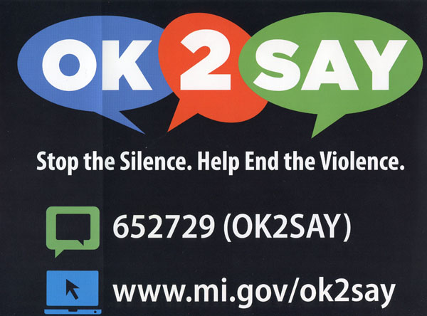 Students made aware of OK2SAY initiative