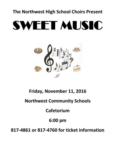Choir presents Sweet Music event