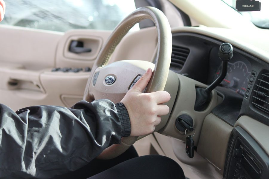 Students driving must remember to pay attention to the road. Winter weather can be dangerous and unpredictable.