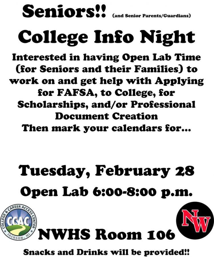 SENIORS - College Night Flyer 7 2016-17 (1)