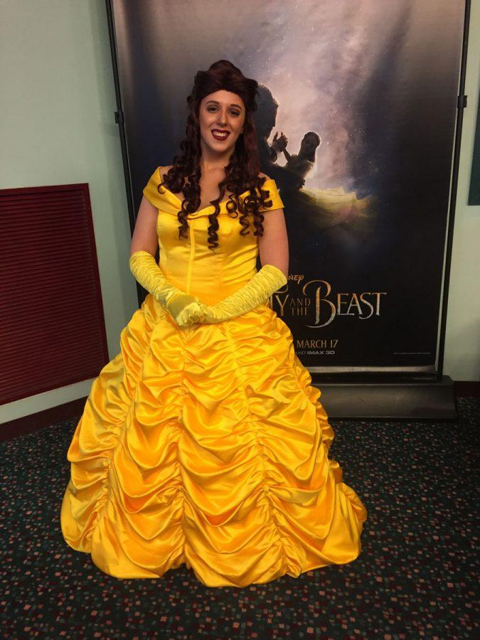 Belle appeared at the premiere of Beauty and the Beast at Jackson 10. To hire a princess or superhero at an event contact The League of Enchantment at leagueofenchantment@gmail.com or follow them on Facebook at League of Enchantment.