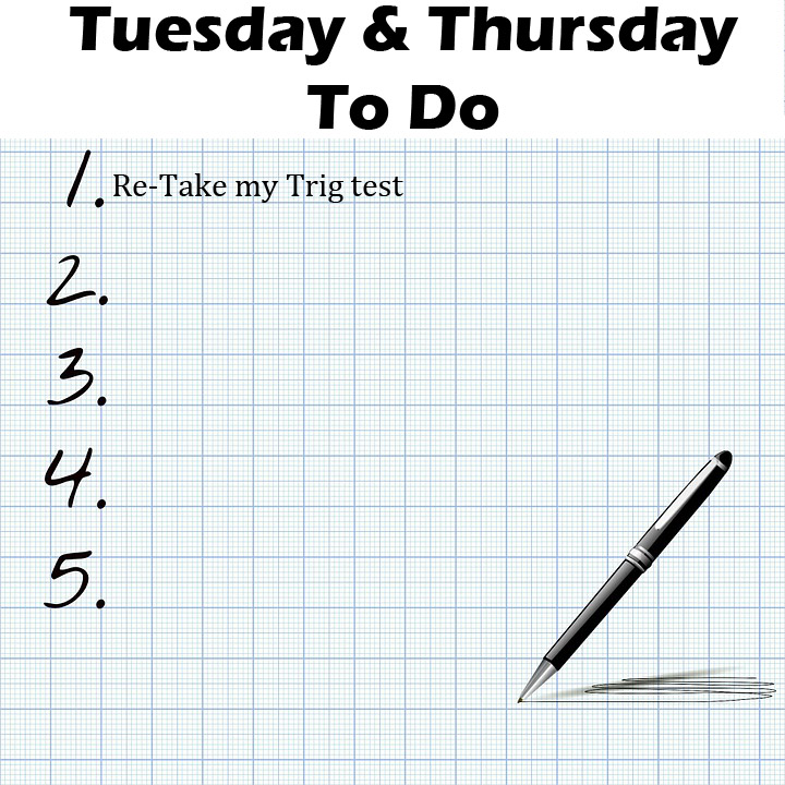 Academic Focus Days- Tuesdays and Thursdays