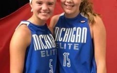 Ella and Jozie Bontrager when they played together in AAU Basketball.