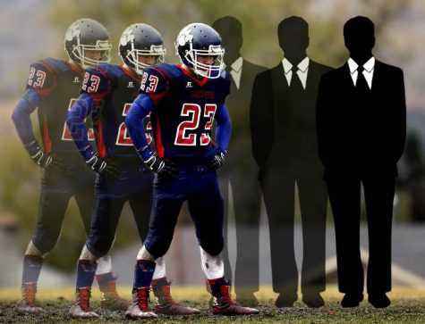 A football player is shown morphing into a successful business man